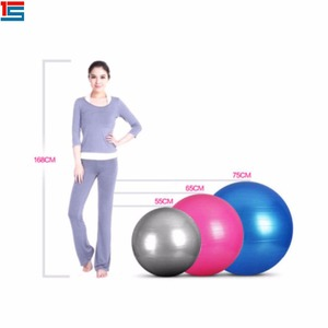 45cm/55cm/65cm colorful PVC cheap relaxed exercise equipment well shape swiss ball