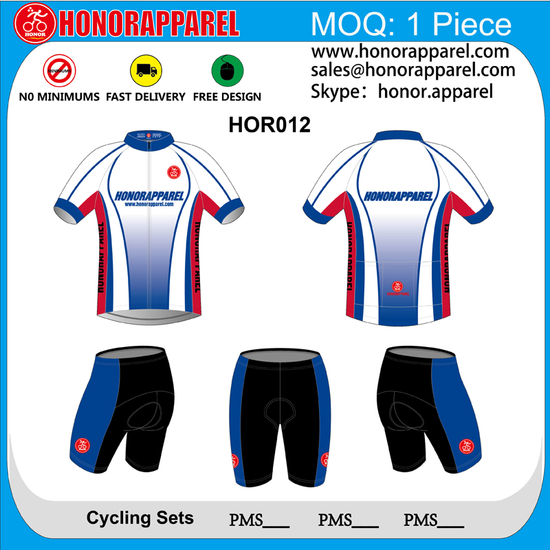 2017 Custom made Cycling Clothing Unquie Cycling Wear Clut Pant Cycling Jersey +Compression Shorts