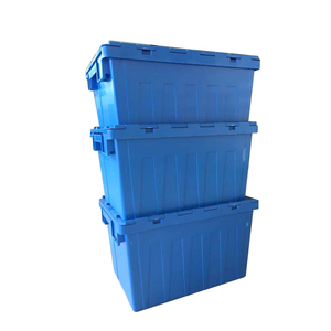 600x400x355mm stacking loading 200kg PP plastic moving box for storage use