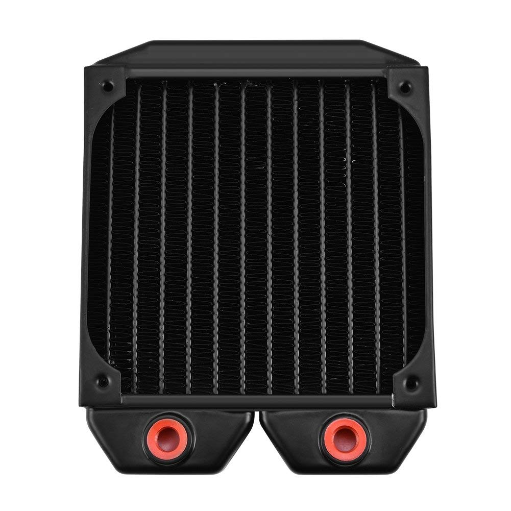 Richer-R PC Computer Water Cooling Radiator, 120mm G1/4 Brass Water Cooling Radiator Liquid Cooler Heat Sink for PC Computer