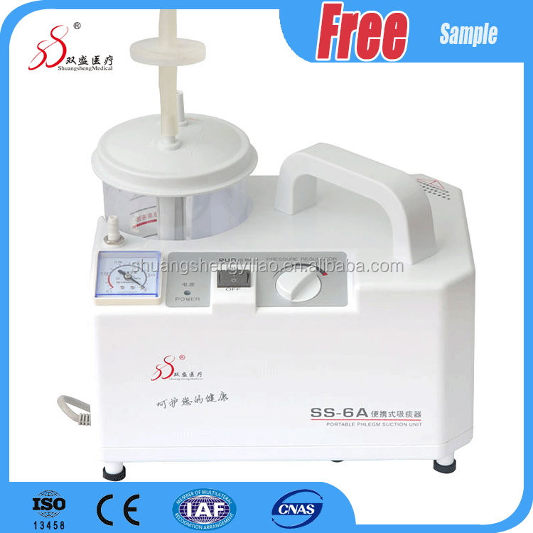Good feature homecare used medical plastic mobile suction machine