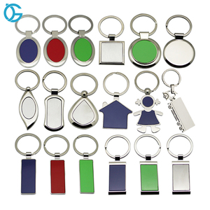 High quality souvenir use cheap price promotional blank metal keyrings / keychains with custom logo available