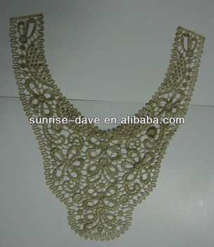 Lurex Crochet Collar Lace Trim