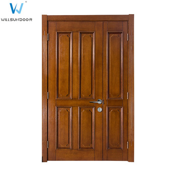Teak Wood Main Door Double Swing Interior Wood Doors Solid Double Door  Malaysia