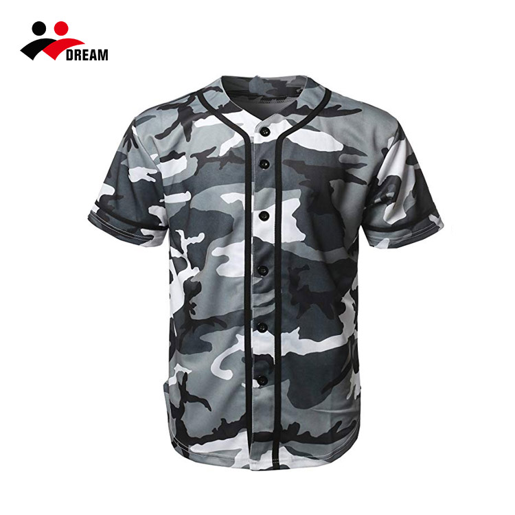 Custom Design Digital Camo Baseball Jersey