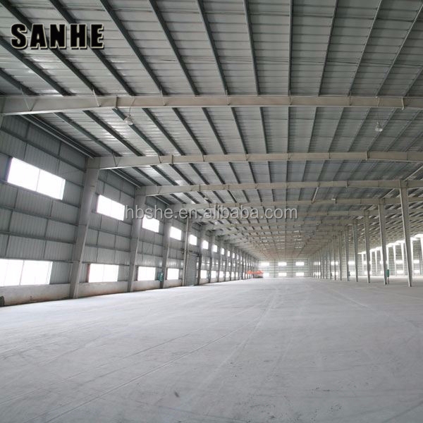 Design low cost pre engineering high rise steel structure building long span frame warehouse steel building