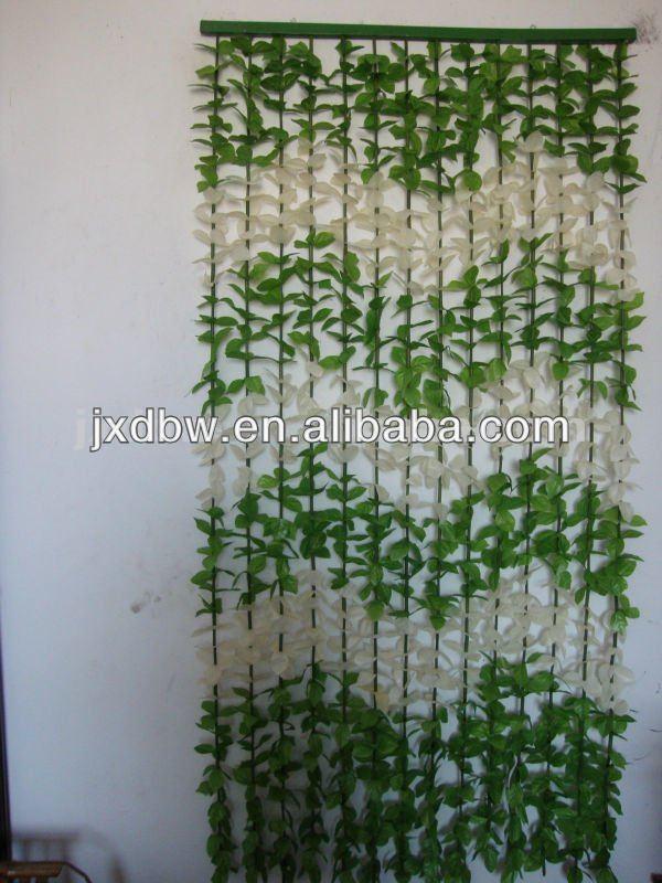Ruang Tamu Desain Dekoratif Plastik Bunga Tali Tirai Bambu