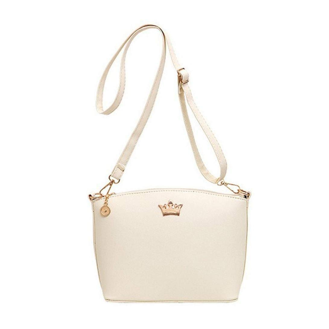 FitfulVan Clearance! Hot sale! Bags, FitfulVan Casual Imperial Crown Handbags Party Purse Women Shoulder Messenger Bags Hot (White)