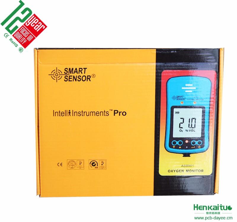 Smart Sensor Handheld Precision O2 Concentration Meter Oxygen Gas detector with Alarm AS8901