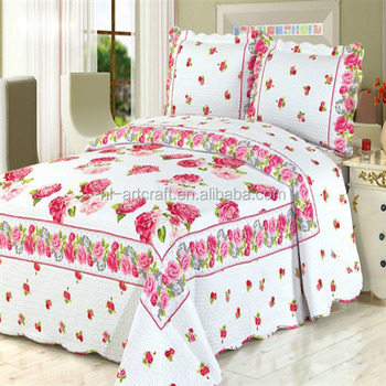 fancy high quality wholesale price printed quilts bedspreads hotel