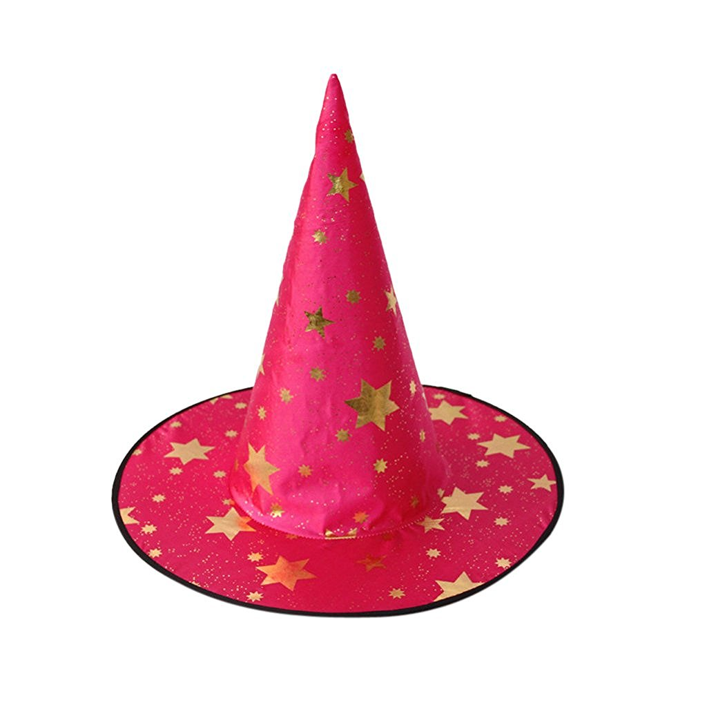 57f7fffdff9 Get Quotations · Kid s Wizard Hat Witch s Pointed Hat Halloween Costume  Accessory - Rose Red