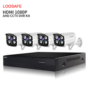 4CH CCTV Security Camera System 1080P AHD H.264 4ch Dvr CCTV Camera Kit