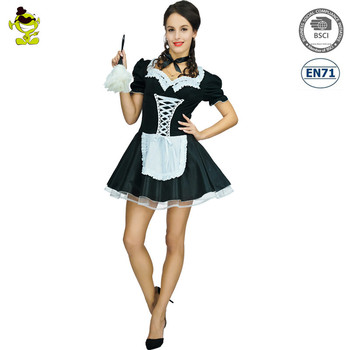 Halloween Women hot sexy french maid carnival party costume anime cosplay costume  sc 1 st  Alibaba Wholesale & Halloween Women Hot Sexy French Maid Carnival Party Costume Anime ...