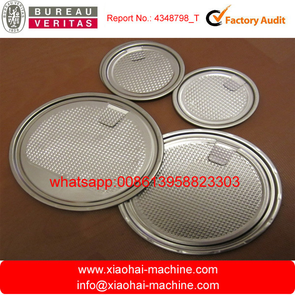 Safe rim Aluminum Easy Open Lid making machine For beverage pop can , tinplate ends for 502# 401# 307# 300#