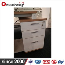 Cheap optional 3 drawer mobile wooden file cabinet
