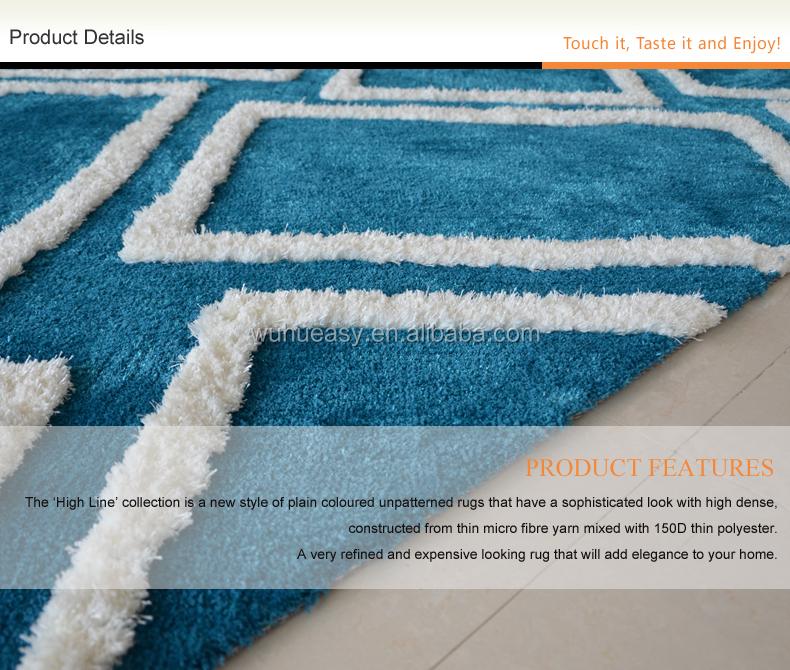 Cheap Modern Minimalist Blue White Gray Indoor Outdoor Carpet ...