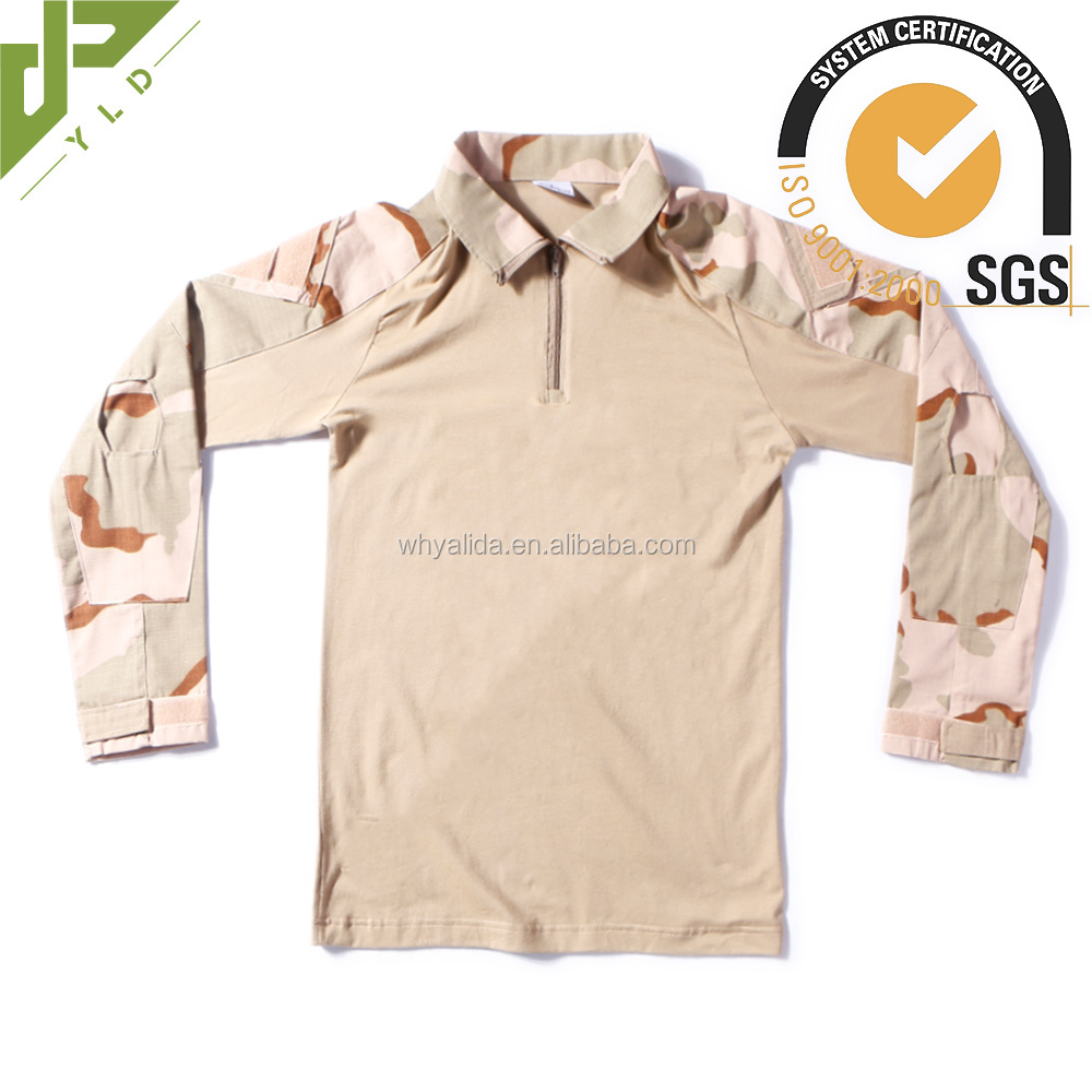 camouflage breathable flame retardant army running shirt