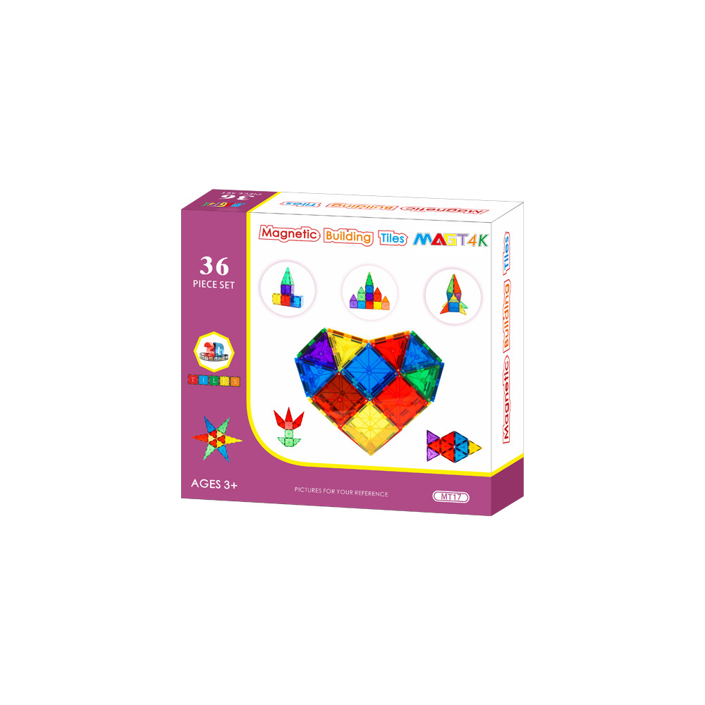 Factory direct educational clear colors magnetic tiles safe ABS plastic magnetic blocks building for kids EN71, ASTM, CPSC, CE
