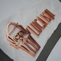 Laser cut copper plating stainless steel vintage 3D letter sign