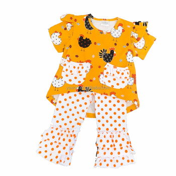 wholesale tween girl clothing boutique cute chicken design newborn spring  animal outfits clothing sets a1e68e13d