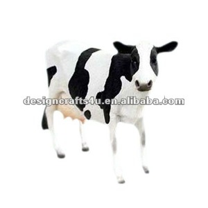 decorative polyresin cow figurine