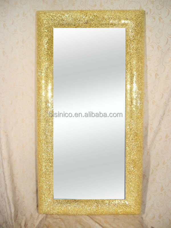 bisini brand decorated furniture wall decorated mirror glass mosaic mirror arabic style - Decorated Mirror