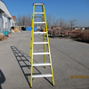 Folding narrow step fiberglass electrician ladder for home used