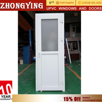 Waterproof White Plastic Kerala Balcony Door Pvc Toilet