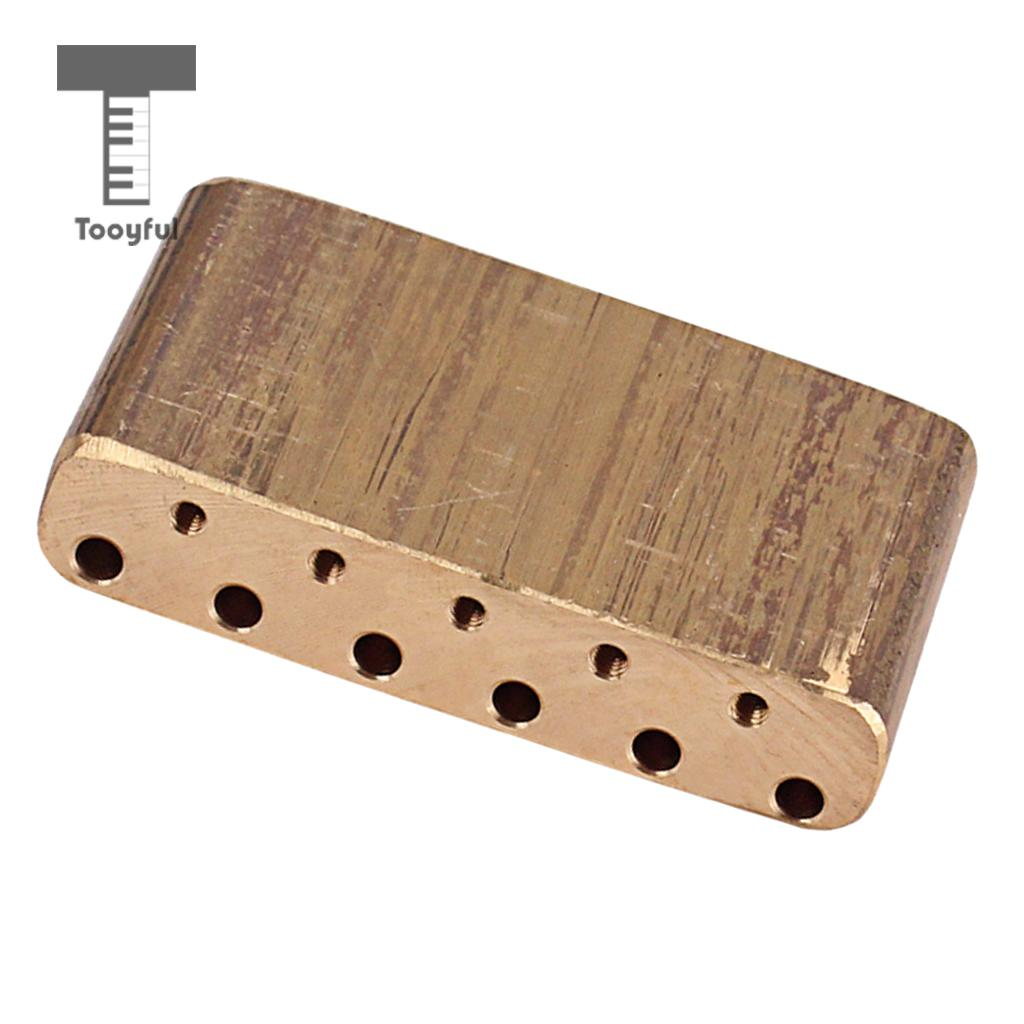 Tooyful Finest Brass Tremolo Block Sustain Bridge for Strat Electric Guitar  Replacement Parts