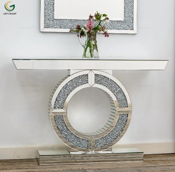 Sparkling Modern Luxury Living Room Furniture Diamond Crush Mirrored  Console Table With Wall Mirror - Buy Console Table With Wall Mirror Product  on ...