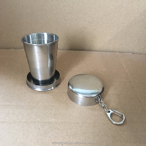 Yongkang Stainless Steel Telescopic Collapsible Shot Glass With Key Ring