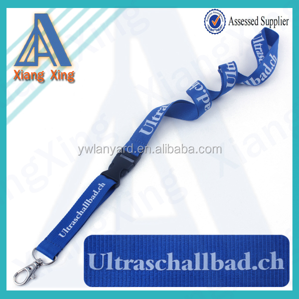 2018 novos produtos de Esporte 20mm cinta Apito Chaveiro Pescoço Cordão Azul 354bc853f2588