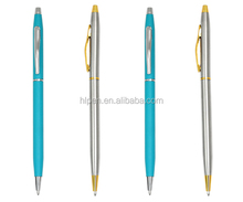 Elegant design aluminium ballpen with shiny chromed trim