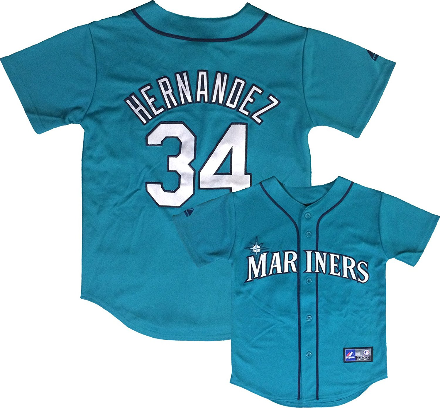 Outerstuff Felix Hernandez Seattle Mariners Teal Youth Authentic Alternate Replica Jersey