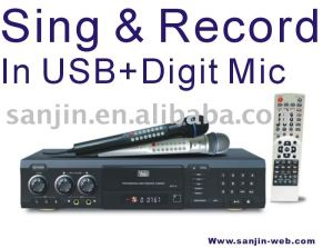 DVD / DIVX Karaoke Player Recorder with USB/SD/MMC/MS Card Reader and Digit Mic