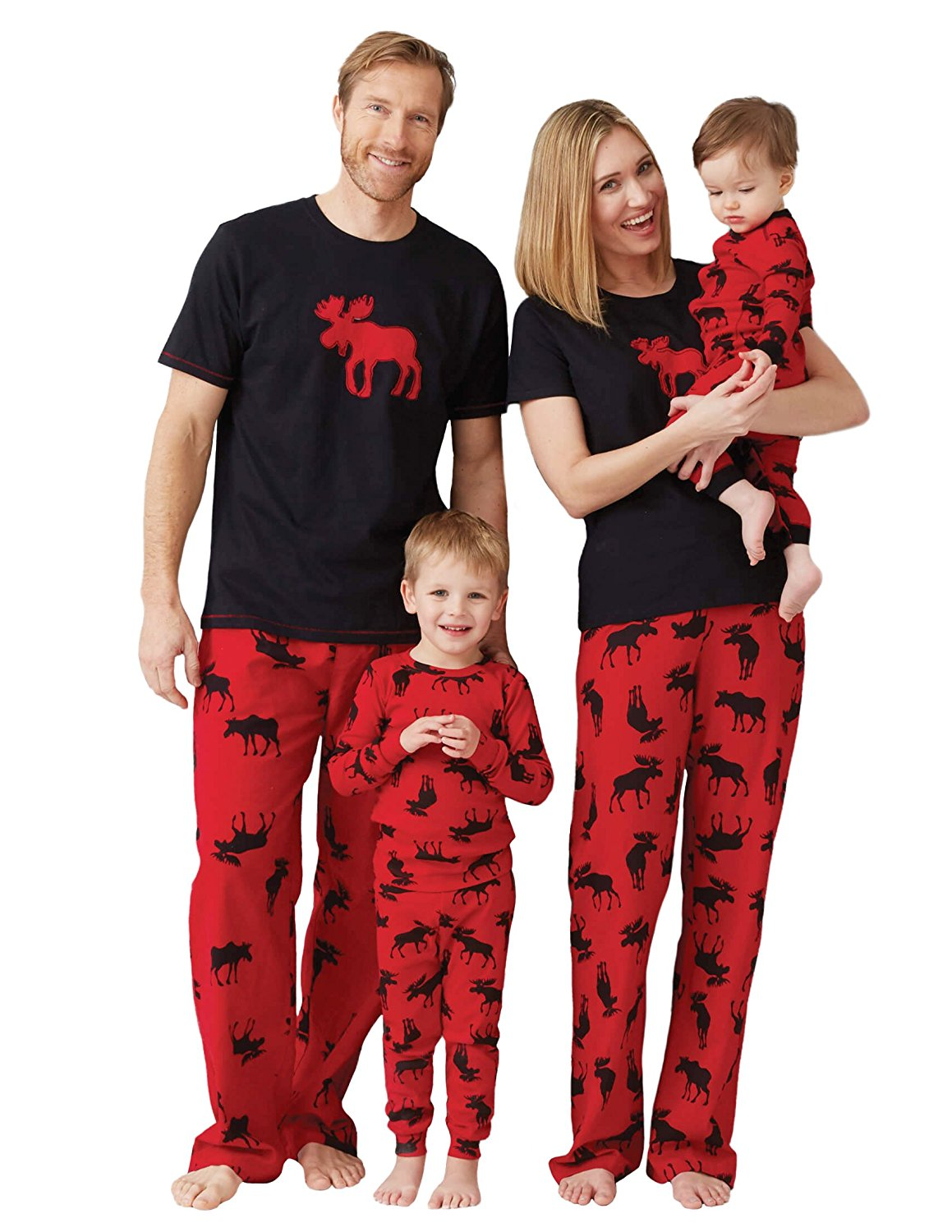 Little Blue House by Hatley Women's Moose Family Pajamas