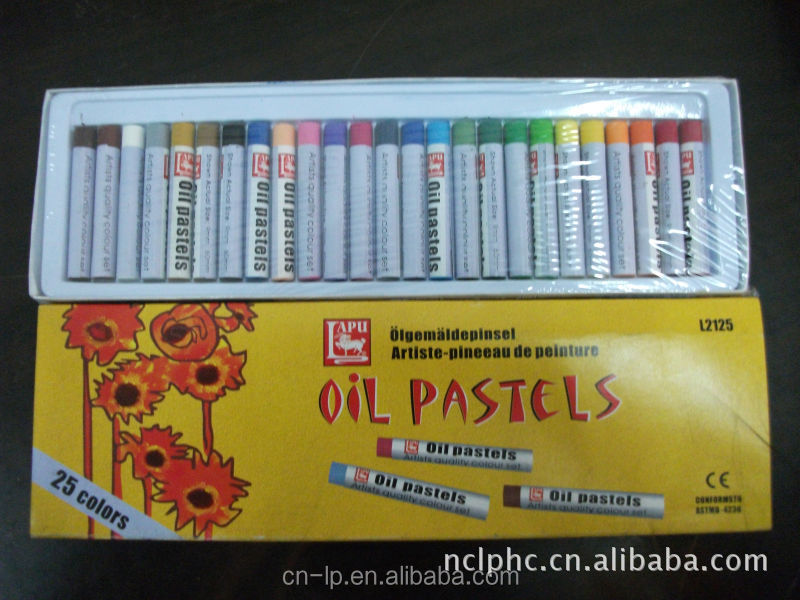 25colour round oil pastel for school