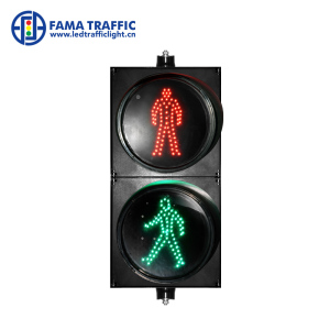 200mm LED Waiting Red Green Walking Man Traffic Signal Light