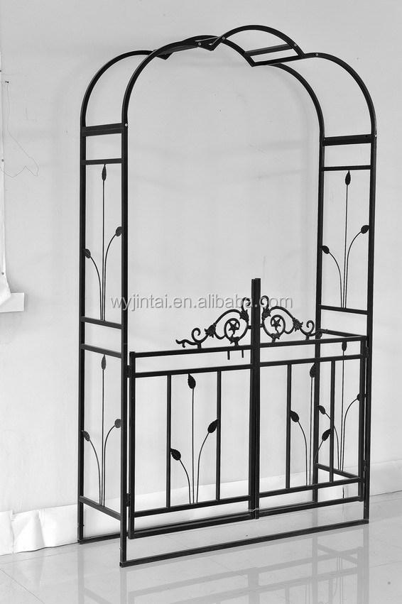 hierro forjado jardn arcos con puerta