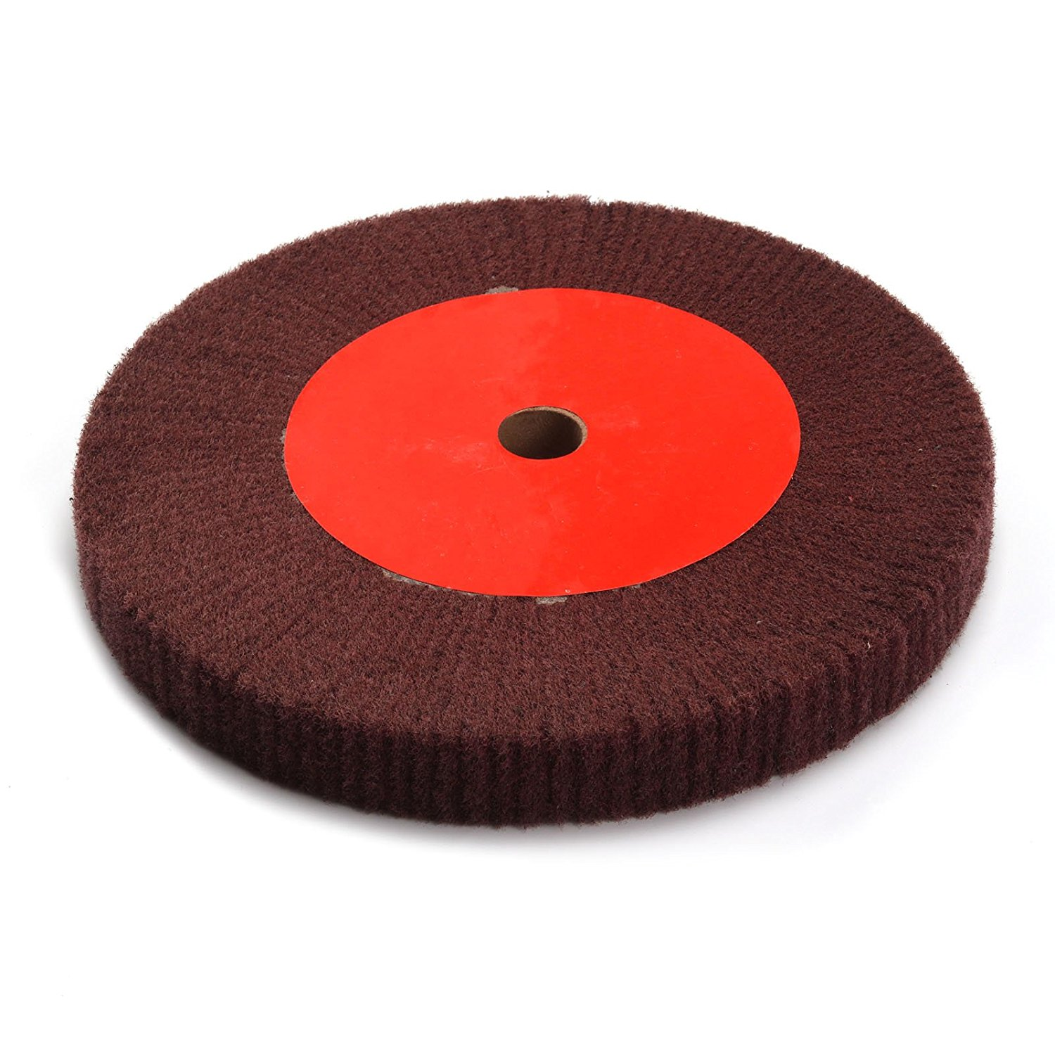 Fiber Polishing Buffing Wheel 320# Grit Nylon Abrasive 300mm Dia 25mm 5P Hardnes
