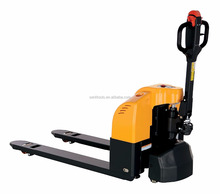 Semi Electric Pallet Truck 3300 LB Capacity 27X48 Overall Fork Capacity 3-1/4 to 8-3/4 Height Range
