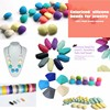Silicone seed beads for jewelry making and colorful silicone beads wholesale