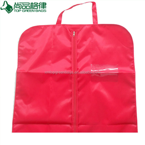 Cheap Travel Zip Lock Hanging polyester Garment Bag Foldable Suite Cover clothes bag