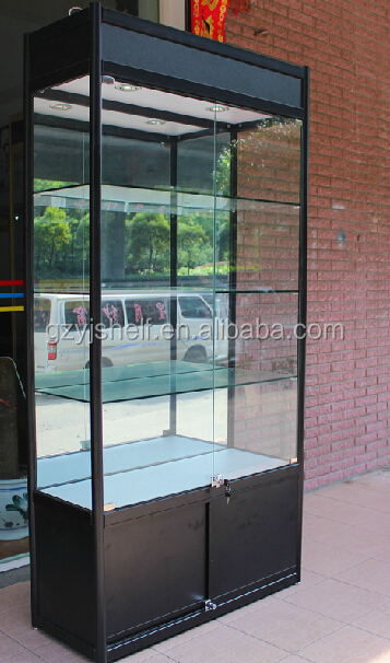 Elegant Wooden Glass Model Car Display Cabinets Glass Mirror, Used Glass Showcases  Mobile Phone Stand,