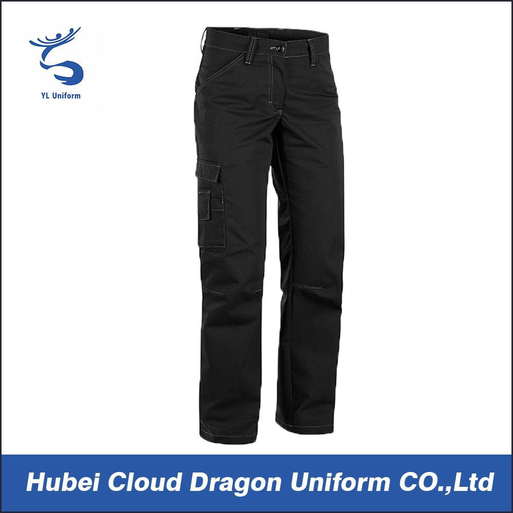 High quality black waterproof windproof hiking pants for men