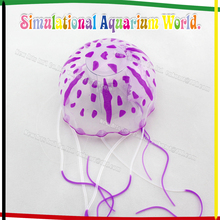 2015 Hot Selling Newest Artificial Jellyfish/ Silicone Aquarium Decoration/ Fish Aquarium Accessories