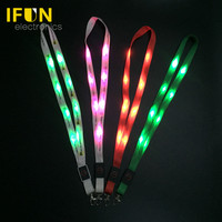 Different lighting modes printing light up necklace led flashing