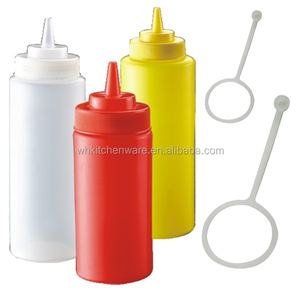 8/12/16/24/32 oz Narrow / Wide mouth PE PP plastic Sauce dispenser