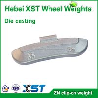 zinc clip on automotive wheel balance weight for different size car wheel