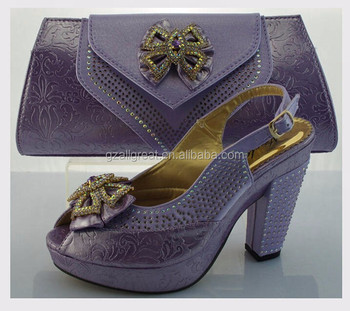 1ea1ea70e9b Ab6173#2 Italian Party Shoes And Bags lilac Color - Buy African ...